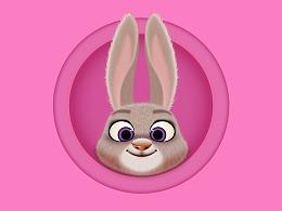 PS画一只Judy兔兔