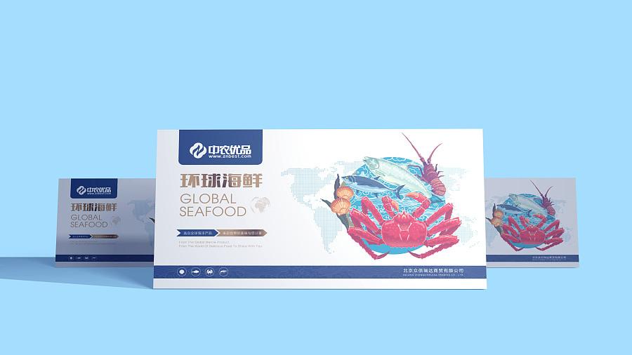 《中农优品》品牌包装设计/海鲜包装图片