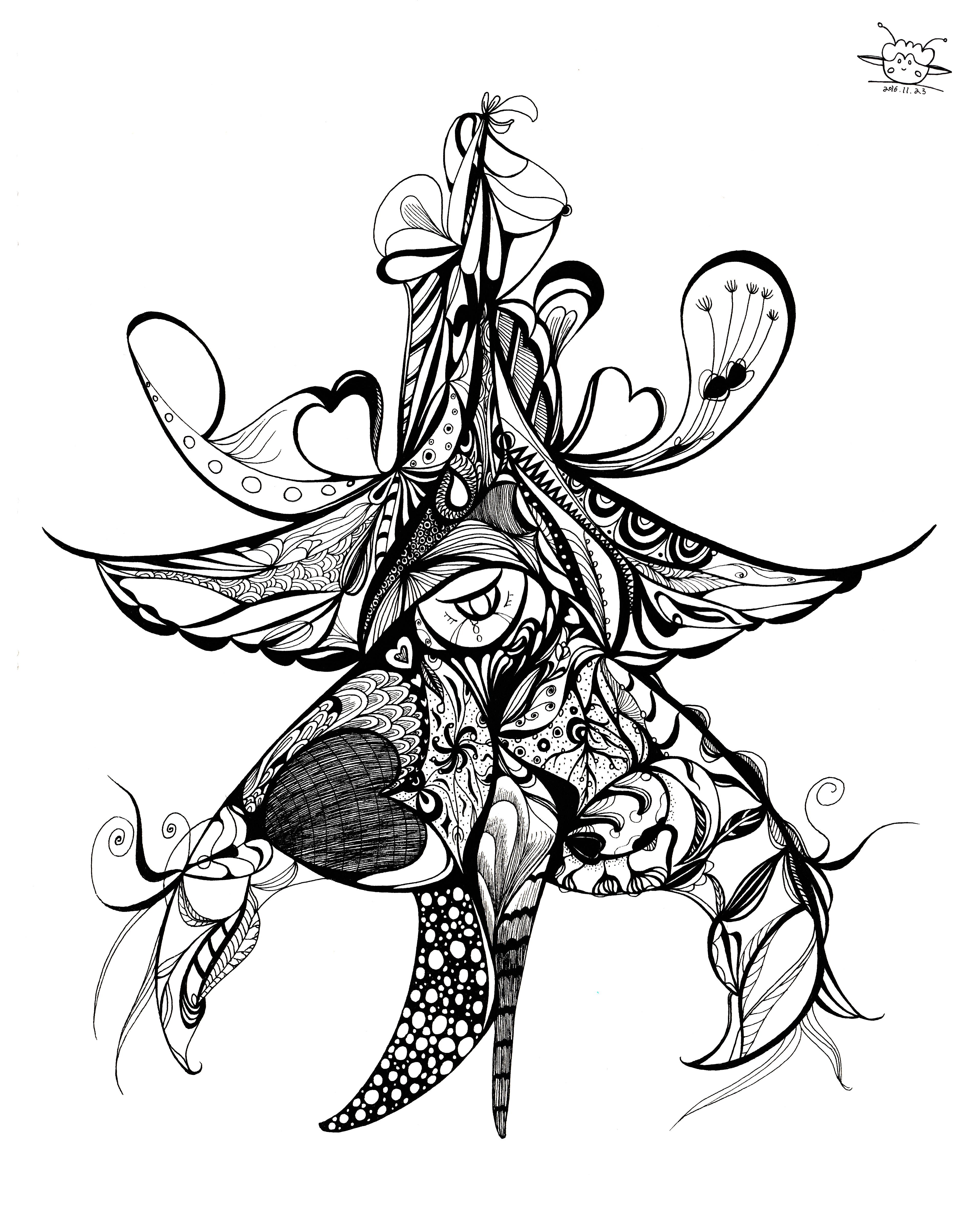 海星种子粘贴画