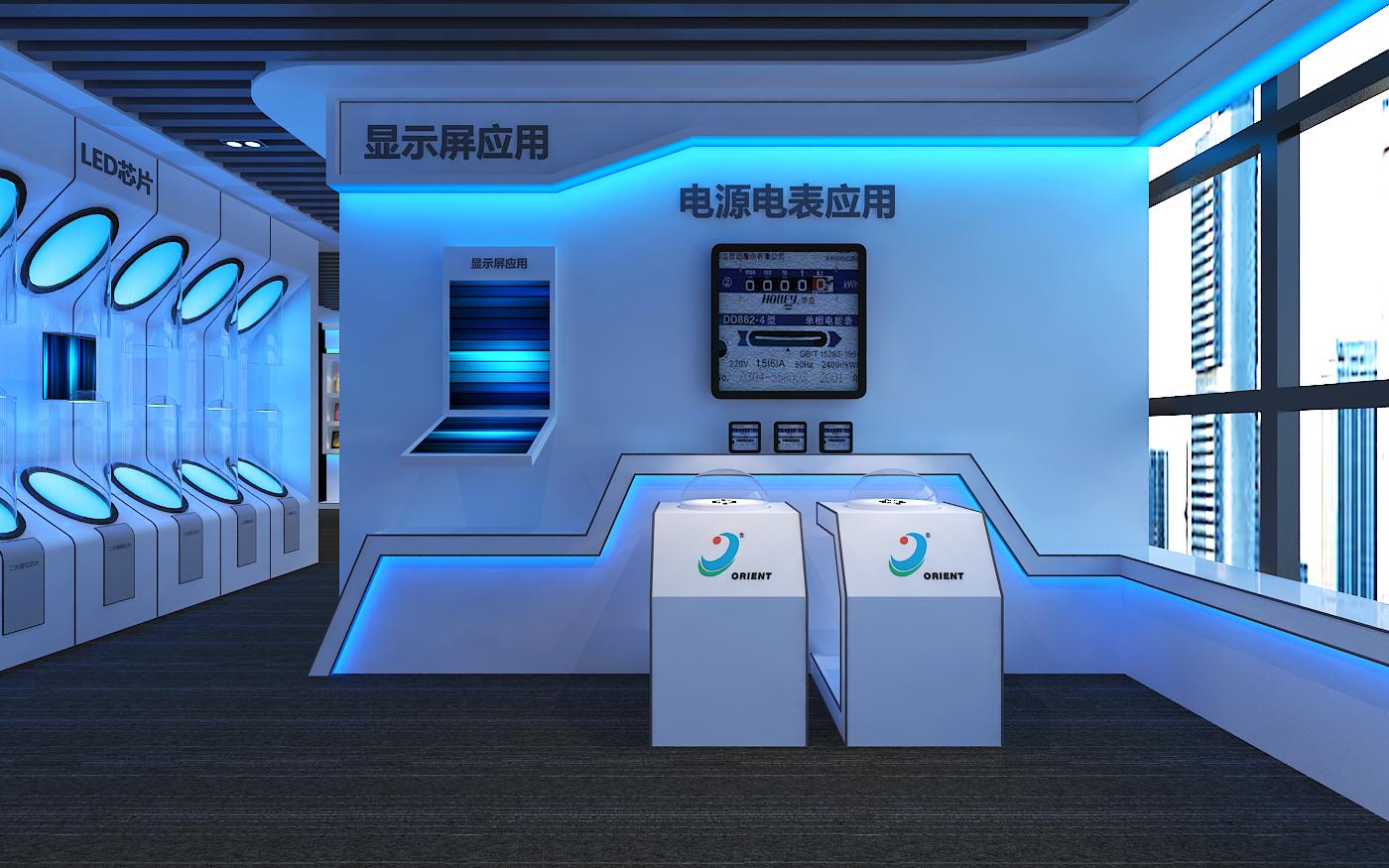 一个led企业展厅图片