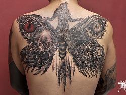BTO tattoo 原 刺青 2017部分黑灰插画作品