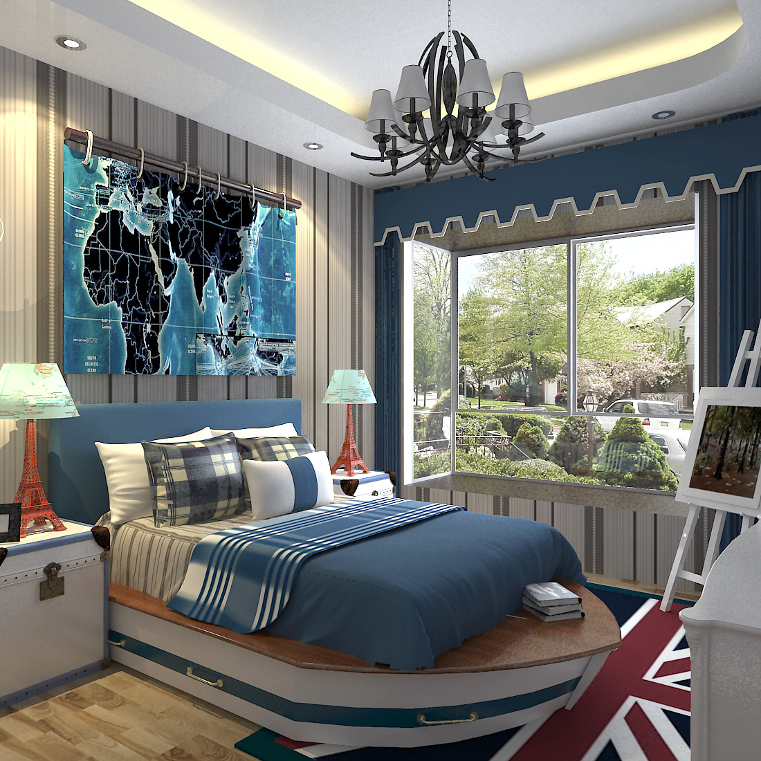 地中海卧室设计|空间|室内设计|有点疯 - 原创作品