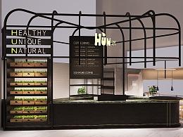 HUN混果汁 深国投店 空间设计