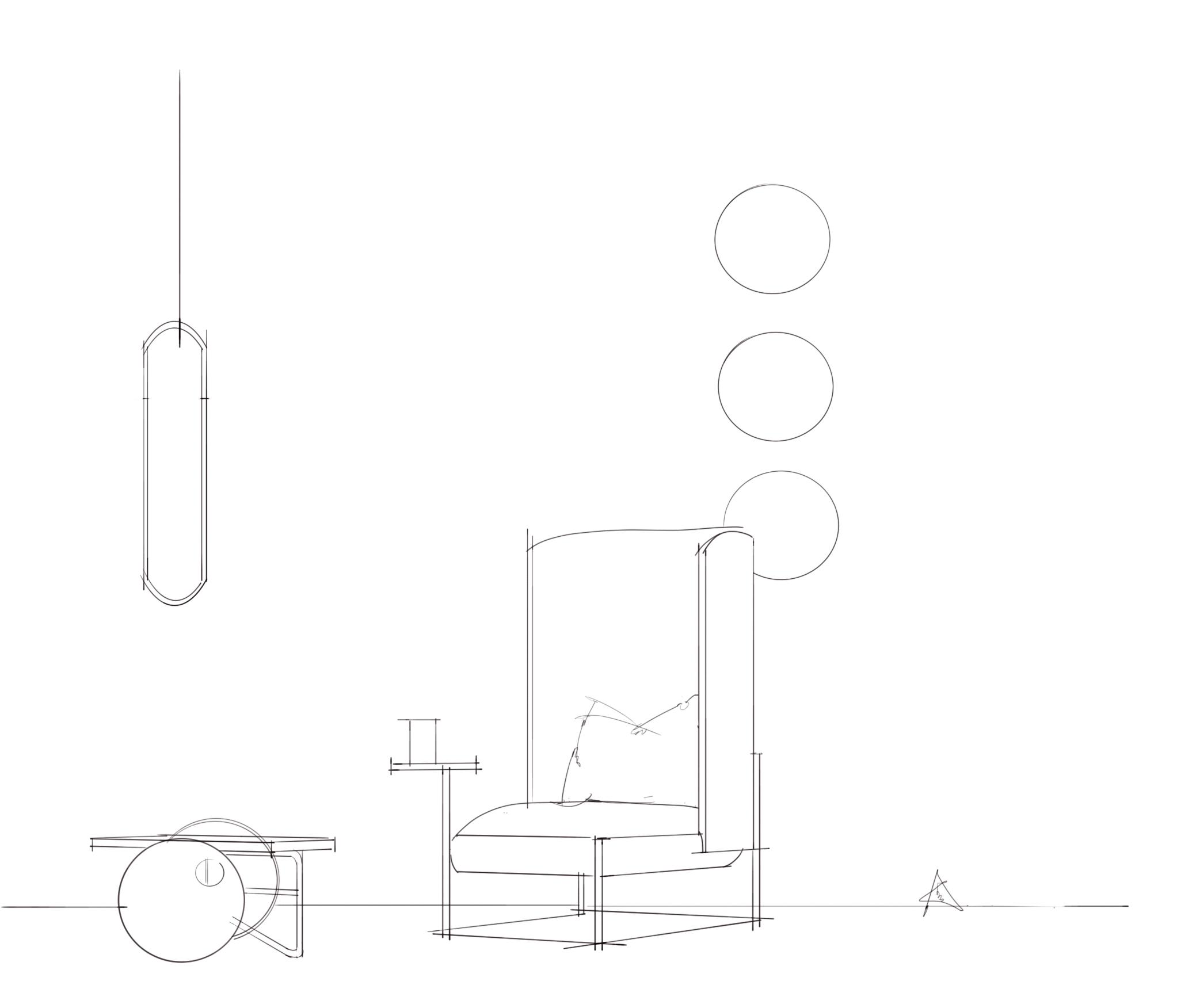 单体线稿(手绘) 空间 室内设计 a32号 - 原创作品