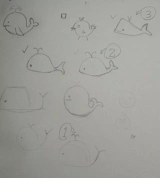 简单好看的鲸鱼简笔画