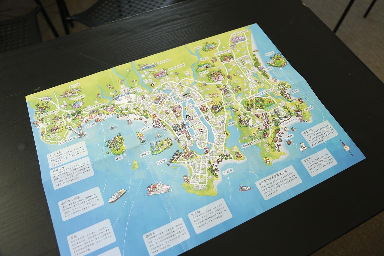 三亚手绘地图|工业/产品|礼品/纪念品|石头人手绘旅行