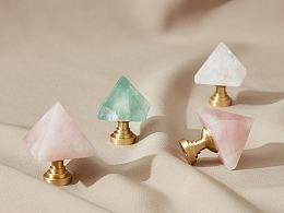 【屿铜拉手】爱丽丝晶塔系列-天然水晶拉手