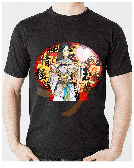王者荣耀同人手绘T恤设计图片