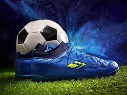 足球鞋海报入口图 宇宙人视觉 淘宝详情