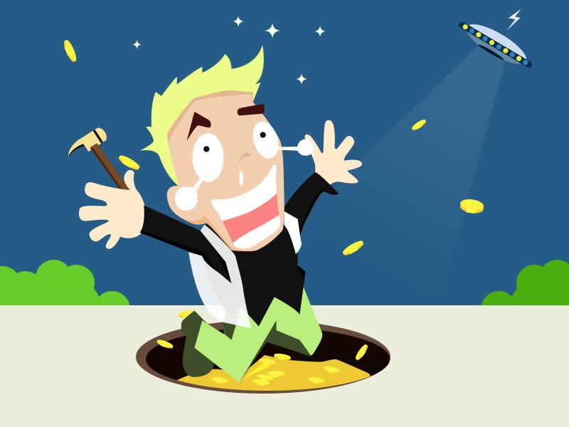 金融理财 投资理财 卡通人物 扁平化人物 夸张表情 互联网投资 新人