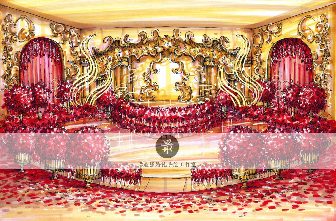 成都最强婚礼手绘工作室作品