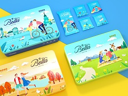 食品包装设计-贝拉曲奇饼干包装设计-鲸奇创意