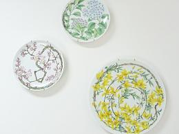 陶瓷釉上彩绘挂盘《春光》