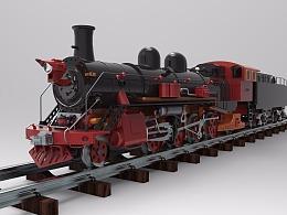 一款火车的建模练习
