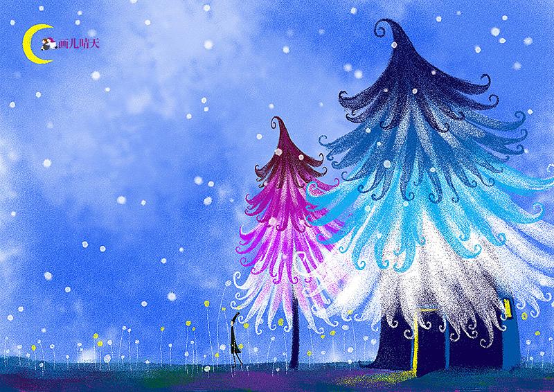 畫兒晴天-圣誕插畫20副-圣誕主題插畫圖片