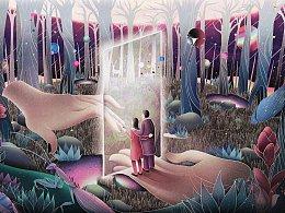 三体终章蓝色星球-门- #三体艺术画集#