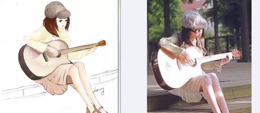 寒假手绘板画的单个人物|其他动漫|动漫|zhang