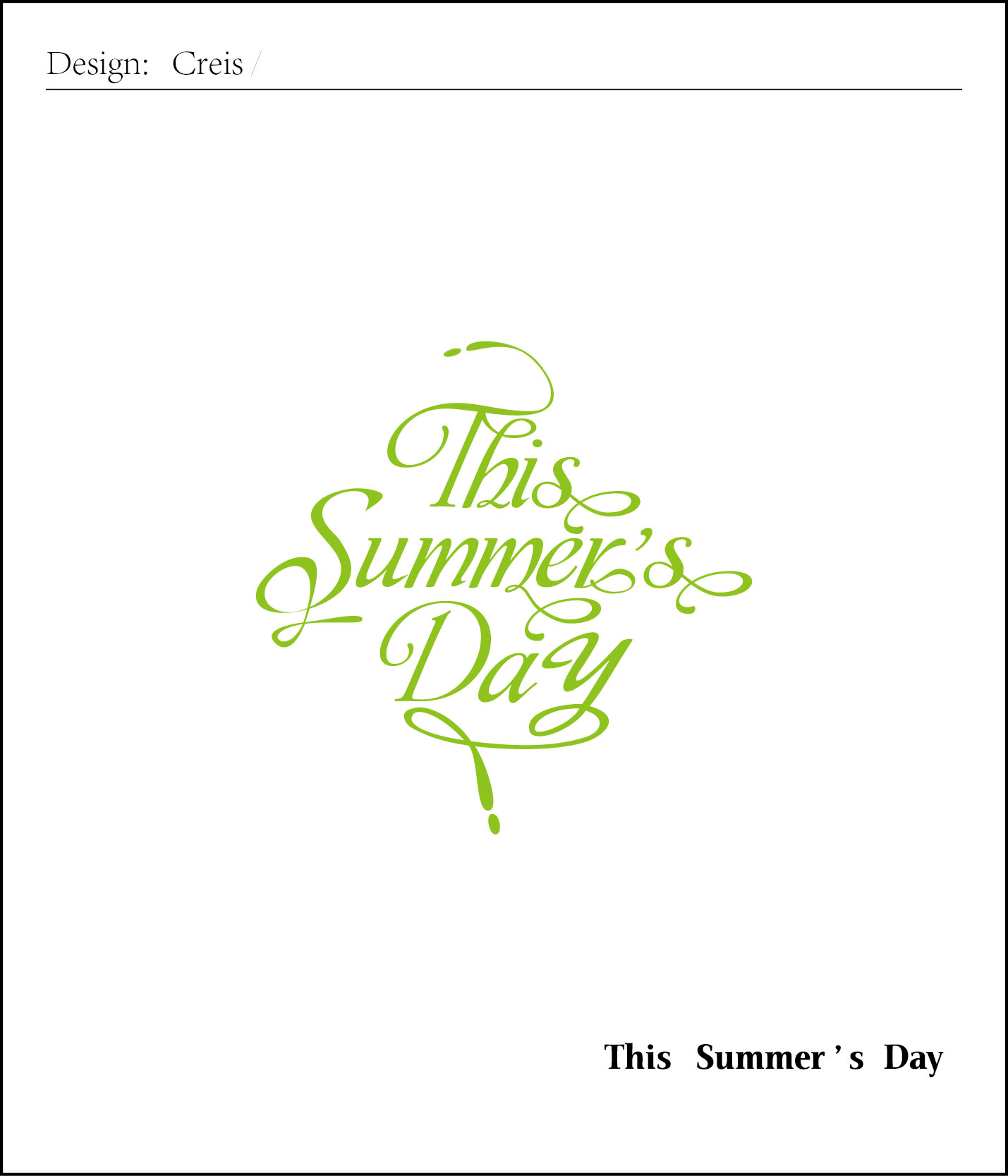 this summer's day 字体设计