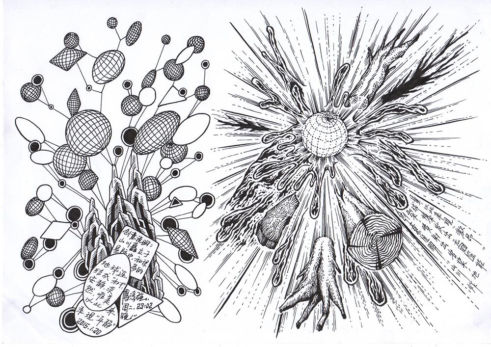 2015创意速写新作|纯艺术|钢笔画|傅淳强 - 原创作品图片