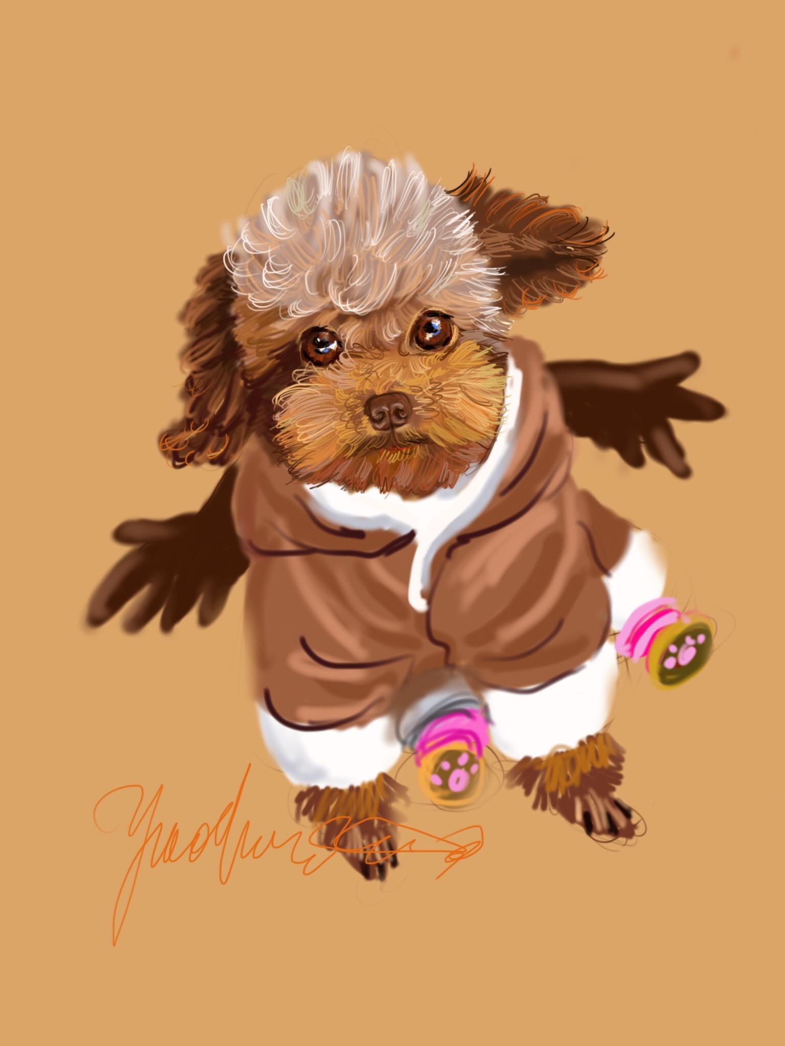 手绘狗狗设计图