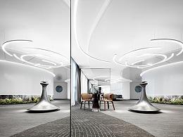 中海大片式黑白平行展厅,艺术+科技完美演绎上海风景