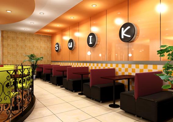 随之客餐饮管理连锁店设计、西式快餐加盟店设