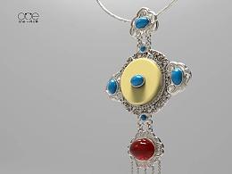 宝石镶嵌项链