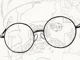 《眼镜男女 の 身边的好友》系列之②(线稿版)
