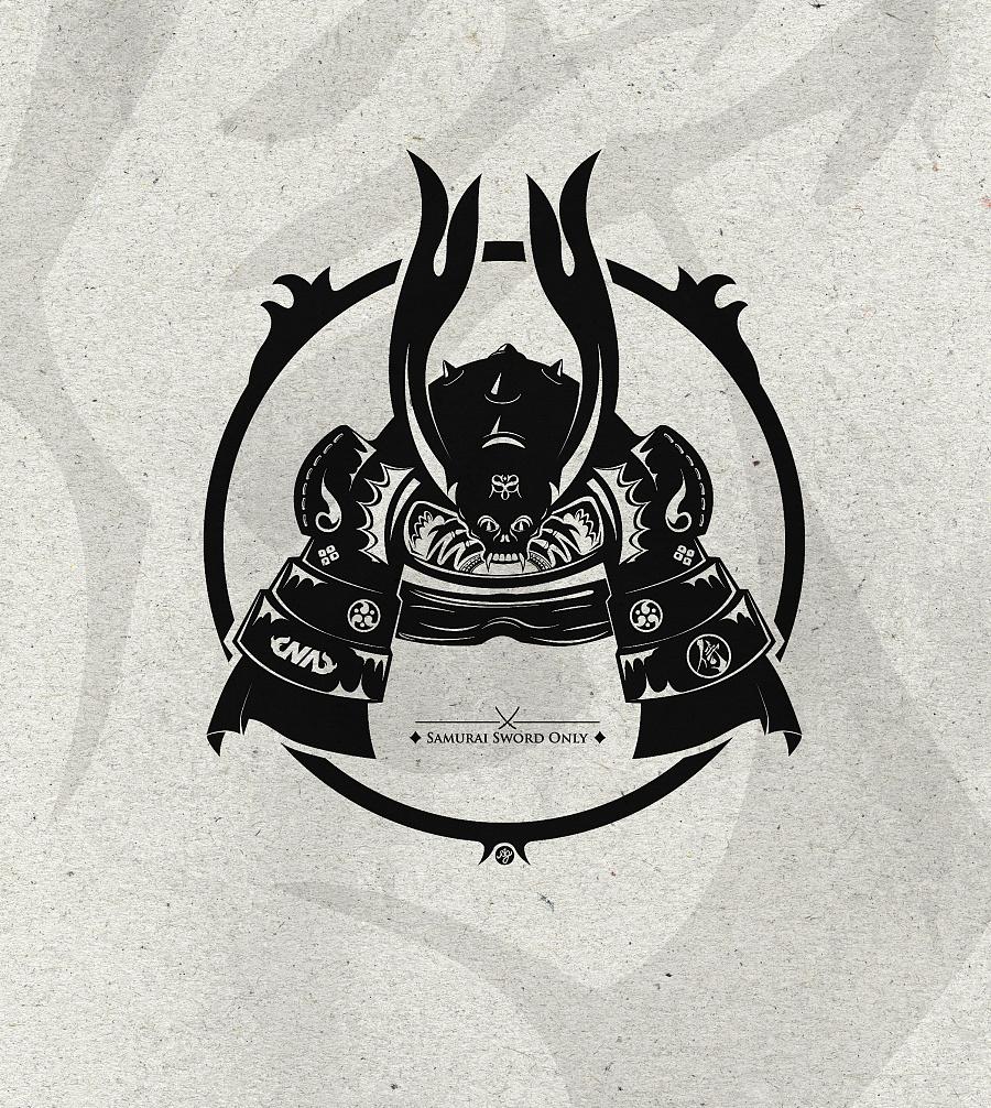 日本战国武士头盔|涂鸦\/潮流|插画|alan224 - 原