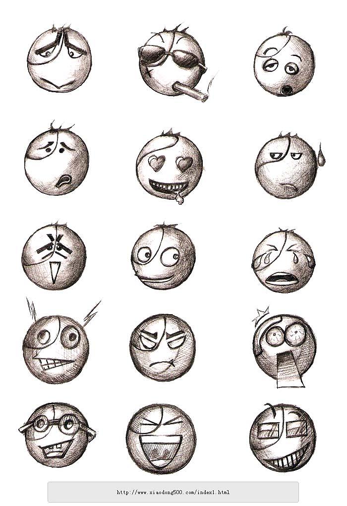 图标/表情手绘稿