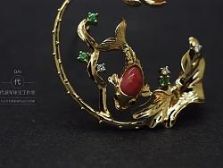 私人定制珠宝作品《鱼戏荷间》过程欣赏