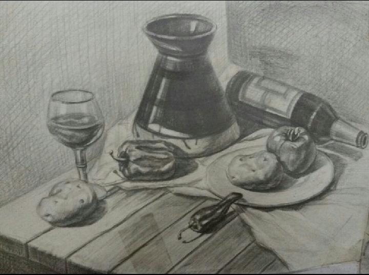 手绘作品(黑白装饰画)|插画|像素画|gingting0708