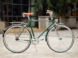 新款tsunami内三速复古自行车