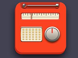 老式收音机—写实图标