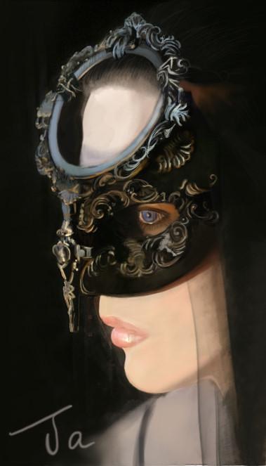面具 女人|商业插画|插画|小j贼