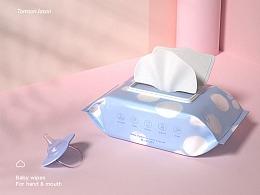 汤臣杰逊【好安适婴儿湿纸巾-品牌新视觉作品分享】