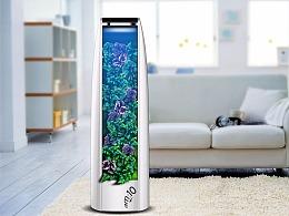 绿色生态的植物空气净化器设计