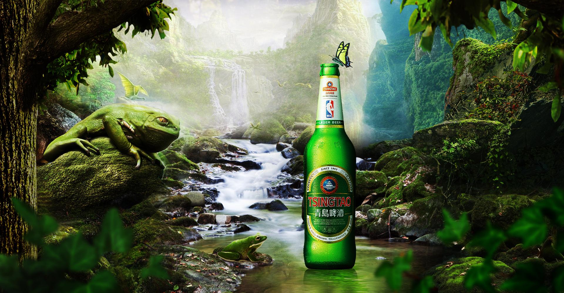 青岛啤酒创意海报