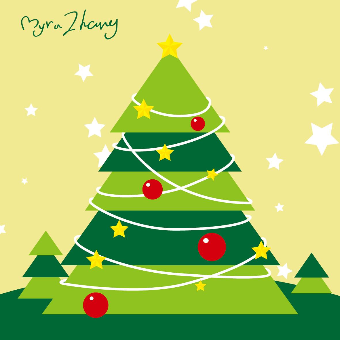 圣诞节插图设计