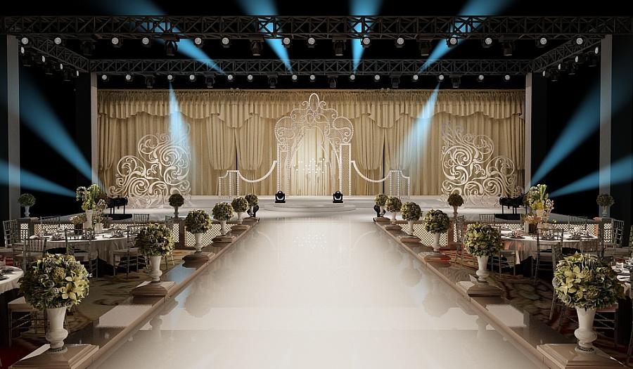 欧式婚礼氛围布置图片