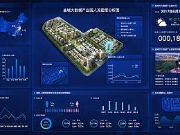 大数据产业园区数据大屏项目