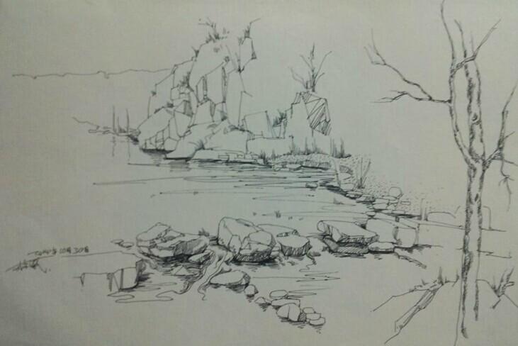 简笔画 手绘 素描 线稿 731_488
