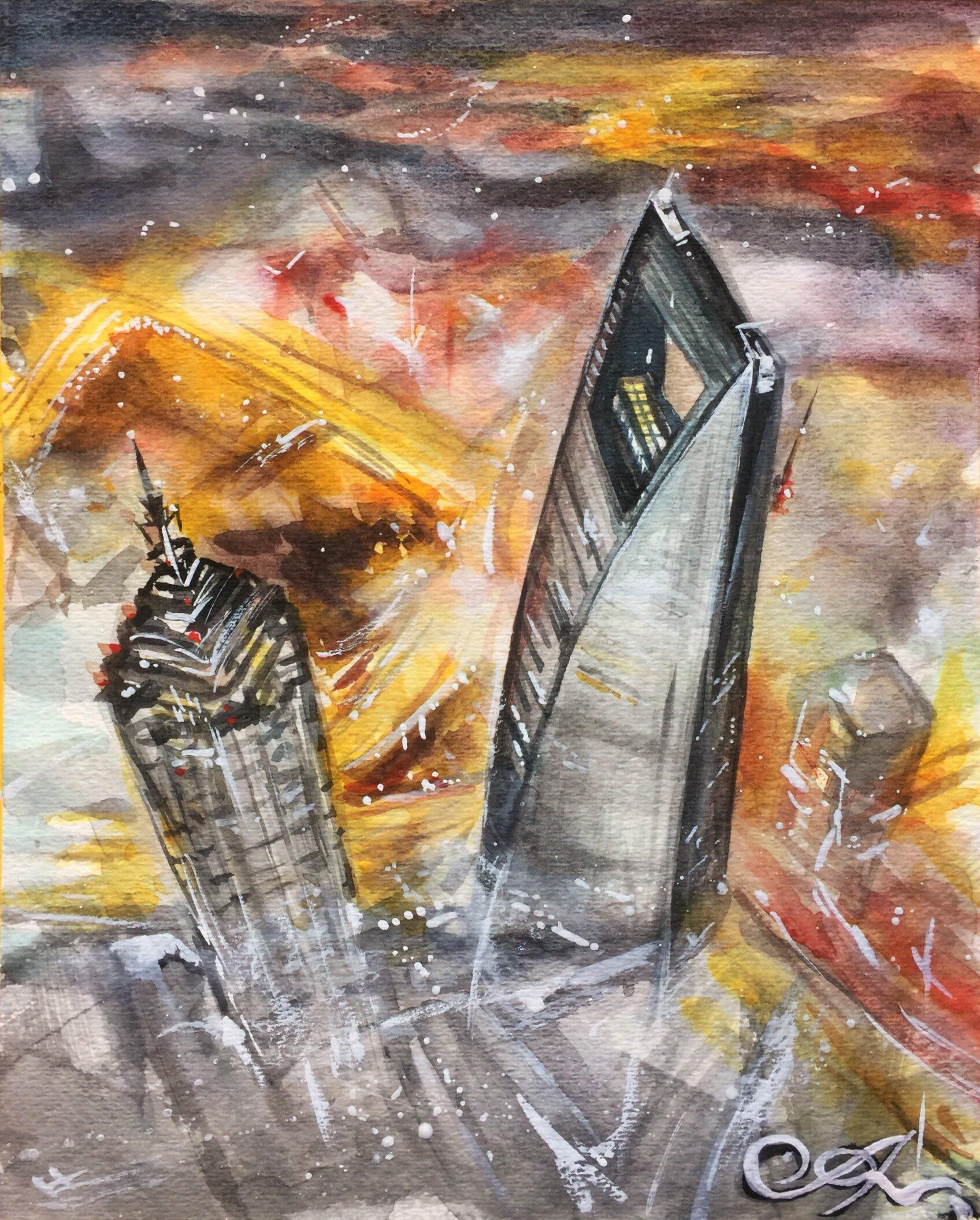 关于上海的手绘