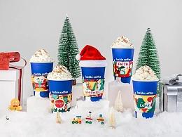 luckincoffee瑞幸咖啡 圣诞幸运杯套设计
