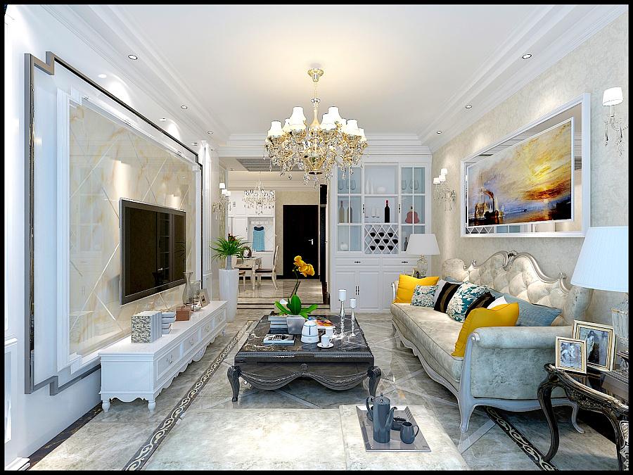 盛唐至尊欧式风格装修设计效果图 新恒发装修|室内