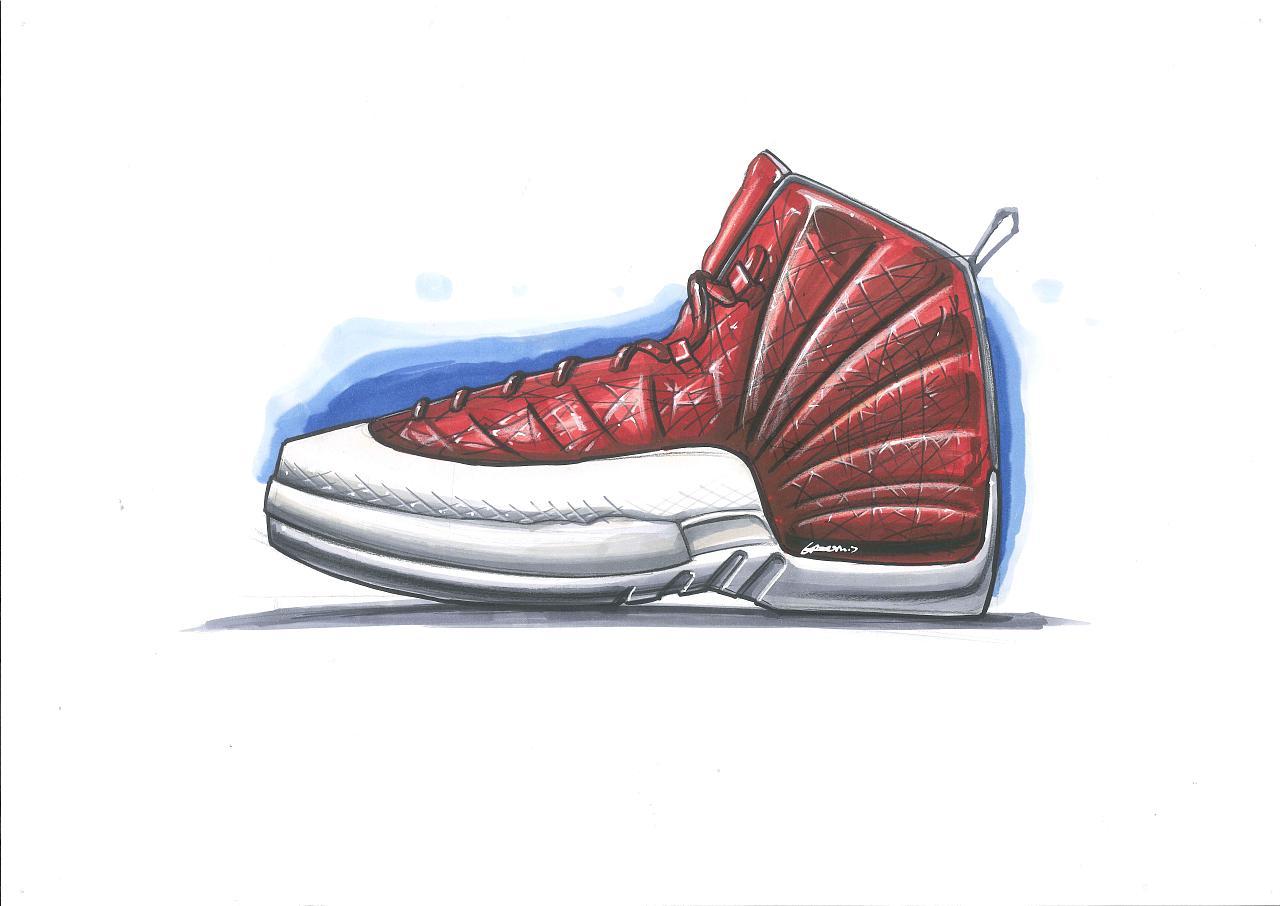工业设计手绘之鞋子