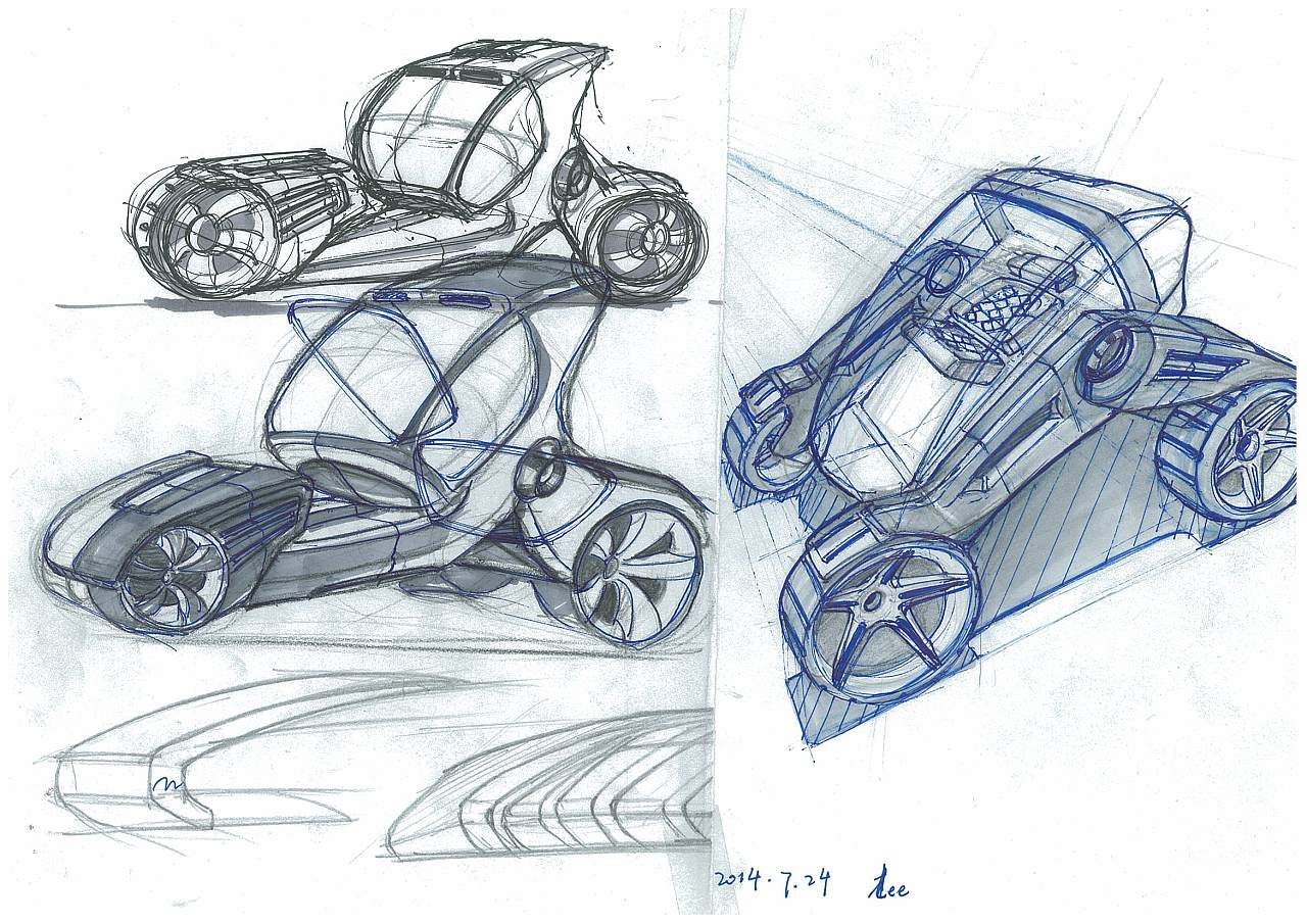 汽车手绘|工业/产品|交通工具|一航一帆 - 原创作品