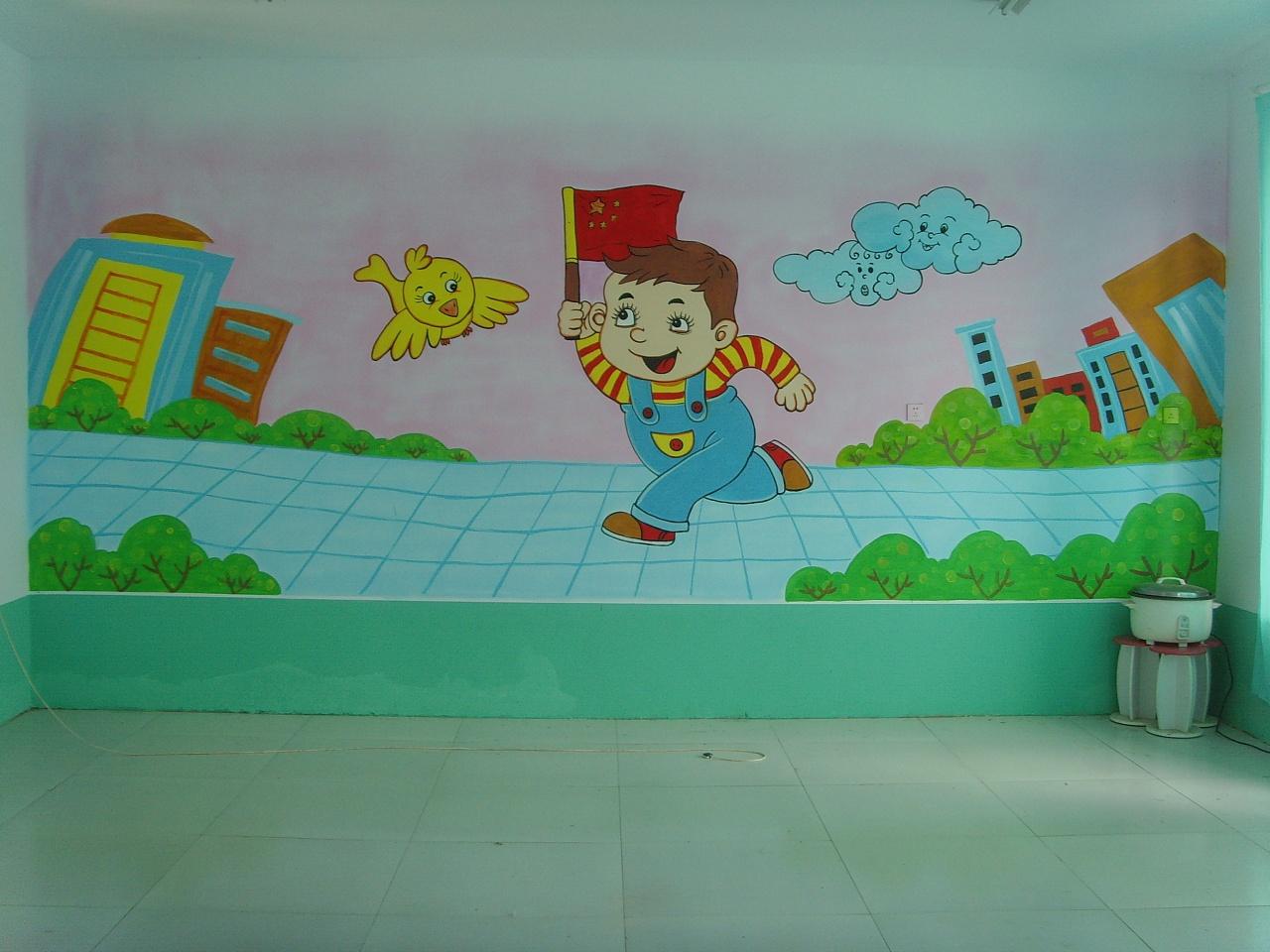 小朱手绘工作室幼儿园手绘墙