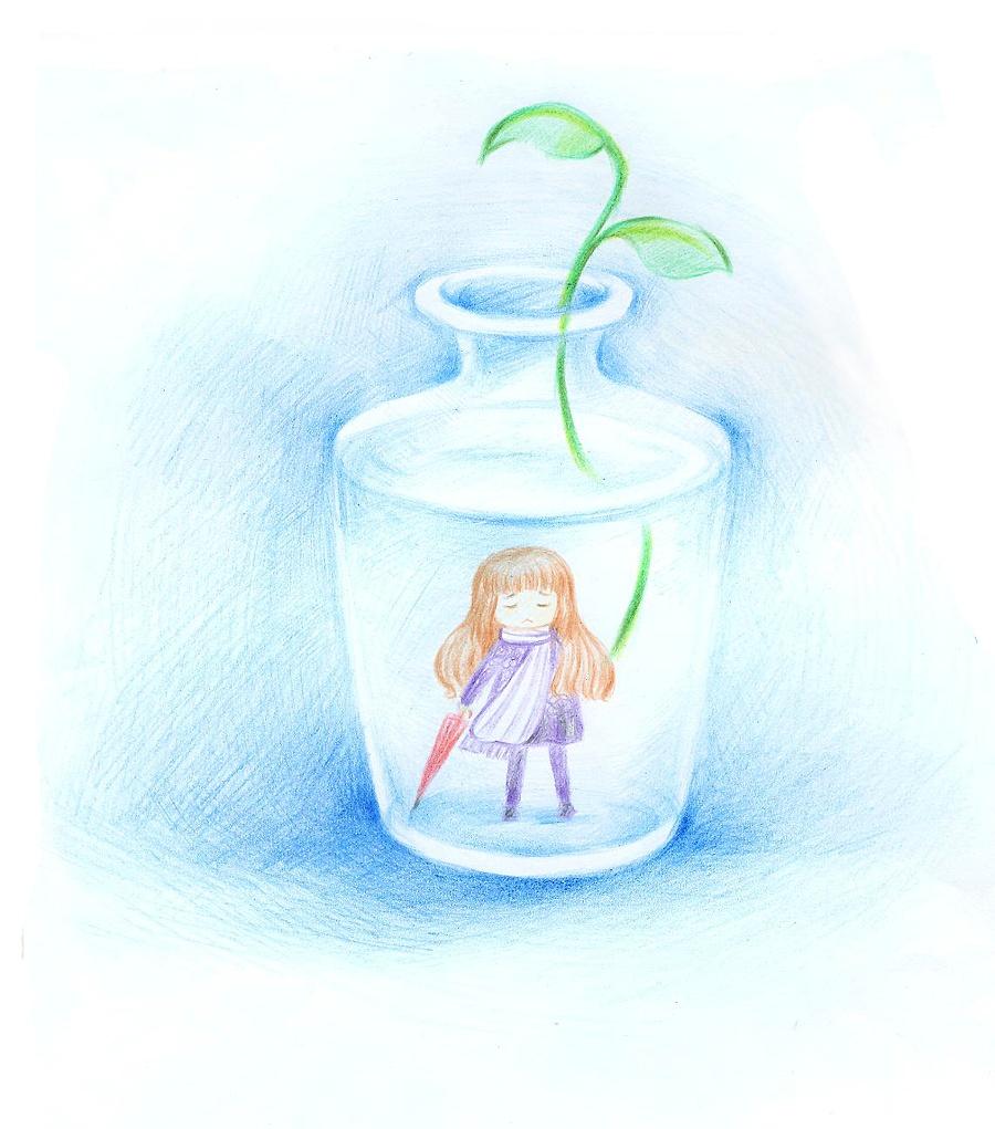 原创作品:手绘水瓶