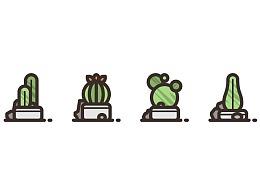 如何创建仙人掌植物图标包